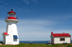 Hiking Trail Les Graves to Cap Gaspé Lighthouse at Land's End, in Forillon National Park's South Sector